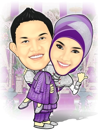 karikatur nikah wedding